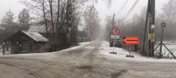 Homansvei er stengt til 12.12.